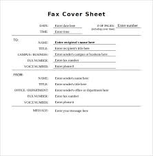 10 generic fax cover sheet templates u2013 free sample example