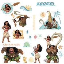 wall clings decals birthdayexpress moana wall decals