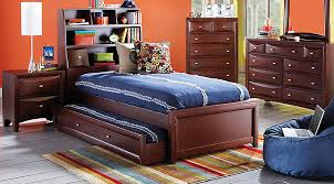 ivy league cherry 5 pc twin bookcase bedroom teen bedroom sets