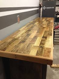 Woodworking Bench Top Design by Anyone Used Hardwood Flooring For Benchtop The Garage Journal Board