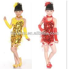 kids samba children ballet samba salsa stage ballroom clothing
