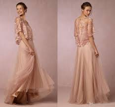 modest blush bridesmaid dresses long sales wedding guest dress