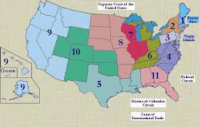 map of us federal states courts and cases usa lexadin 133 the federal court system