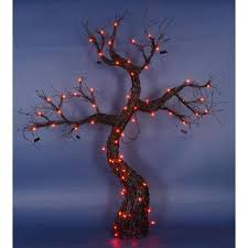 buy 5 lighted spooky black rattan halloween tree with bats yard