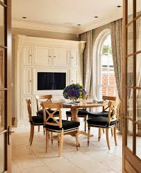 pedestal dining table room transitional with console l listed