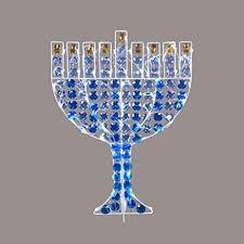 outdoor hanukkah menorah 24 led lighted menorah hanukkah yard decoration