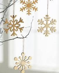 laser cut wood snowflake ornaments ornaments