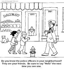 police color coloring pages kids family