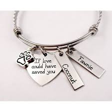custom personalized jewelry memorial pet remembrance if could saved you bracelet