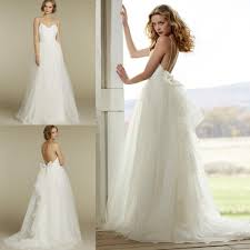 Wedding Dresses With Bows Discount Fitted Slim Lace Backless Bows Cheap Wedding Dresses For