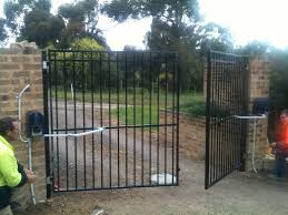 314 best fencing images on gate and fence power gate opener steel driveway gates estate
