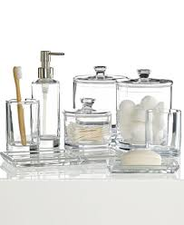 CLOSEOUT Hotel Collection Glass Bath Accessories Collection - Glass bathroom