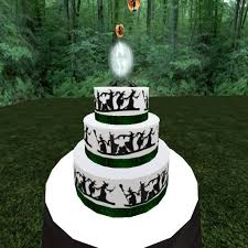 second life marketplace witchy wedding cake green