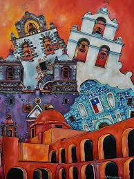 san antonio mission painting five missions by patti schermerhorn