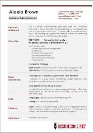 business resume template business resume template administration exle recent visualize