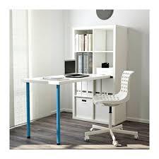 bureaux blancs kallax combinaison bureau blanc bleu 77x147 cm bureaux blancs