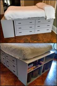 Making A Platform Bed Out Of Kitchen Cabinets by Diy Space Saving Bed Frame Design Free Plans Instructions Bed