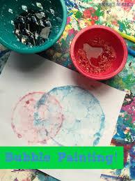 mini monets and mommies kids u0027 bubble painting art activity