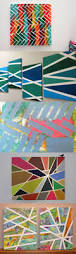 creative tape painting art paintings craft and activities