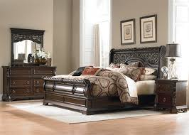 liberty furniture bedroom set arbor place sleigh bed 6 piece bedroom set in brownstone finish