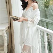 wedding peignoir sets nightgown sleepshirts lace bathrobe sets bridesmaid robes set