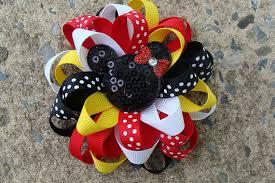 mickey mouse hair bow disney hair bow mickey mouse hair bow minnie mouse hair bow
