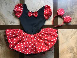 Minnie Mouse Halloween Costume Toddler Toddler 3t Minnie Mouse Costume Tutu Earband Black Red White