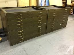 vintage flat file cabinet vintage hamilton army green flat file cabinets for sale in