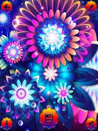 Flower Screen Backgrounds - neon flower wallpaper s hd u2013 glow ing background s maker and
