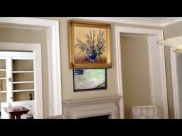 tv hidden behind painting call 866 339 1945 youtube
