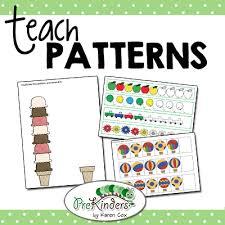 pre k math patterns prekinders