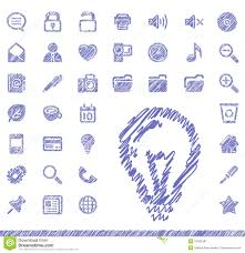 sketch icons stock image image 10462491