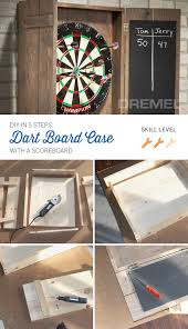 here u0027s an easy diy wood project build your own dart board cabinet