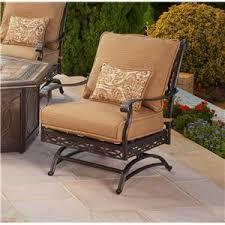 Agio Patio Table Agio Ashmost 7 Sling Swivel Chair And Rectangular Cast