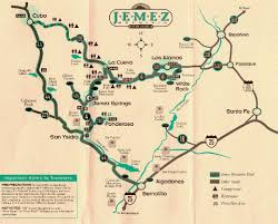 A Map Of New Mexico by Jemez Mountains New Mexico Tourist Map Jemez Mountains New