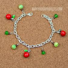 themed charm bracelet apple themed charm bracelet happy hour projects
