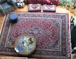 Red Oriental Rug Living Room Living Room Decorated Width A Mashhad Hunting Scence Design