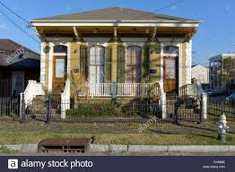 traditional house garden district new orleans louisiana usa