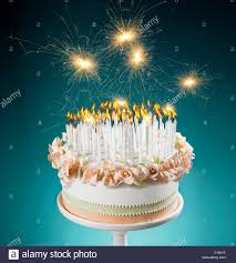 birthday cake candles birthday cake with lots of burning candles stock photo royalty