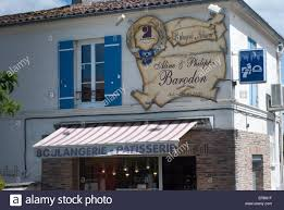 typical french boulangerie patisserie at port d u0027envaux charente