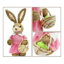 bunny decorations easter bunny decorations soobuy 13 sisal rabbits with
