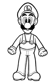 awesome super mario luigi coloring pages images printable