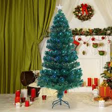homcom 4ft 120cm optic artificial tree