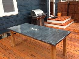 zinc top dining table with simple hayward zinc top round dining