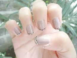 hjamnette likes notd inspiration french manicure bling