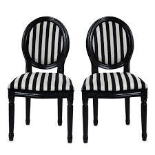 chaise noir et blanc chaises baroque noir et blanc medaillon x 2 achat vente chaise