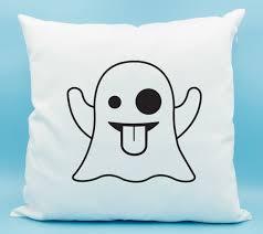 Furniture Emoji Ghost Emoji Pillow Ghost Emoji Throw Pillow Ghost Emoji