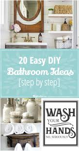 20 easy diy bathroom ideas step by step tip junkie