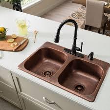 Antique Copper Kitchen Faucets Drop In Copper Farmhouse Sink Best Sink Decoration