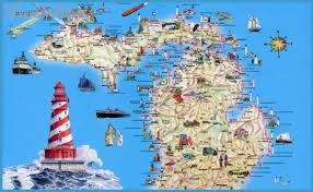 map of michigan michigan map tourist attractions travelsfinders